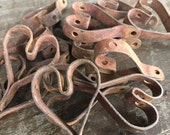 Vintage Iron Metal Primitive Heart Charm Lot #H, set of 15, charms from antique heart mat, Upcycled, Steampunk Supplies, Vintage Valentine
