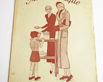 Vintage French Magazine Mode Pratique February 1934 1930's Fashion Sewing and Knitting Antique