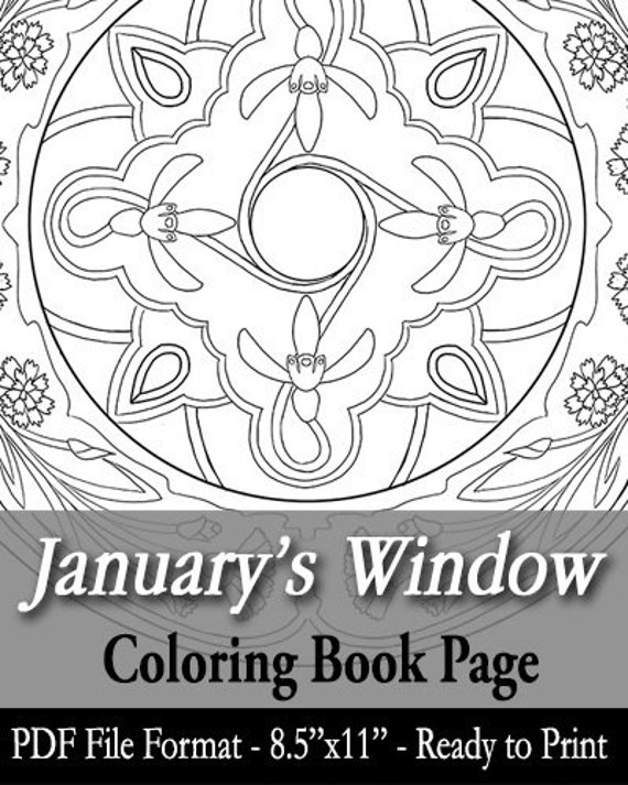 free january coloring pages - printable coloring book page for adults january birth