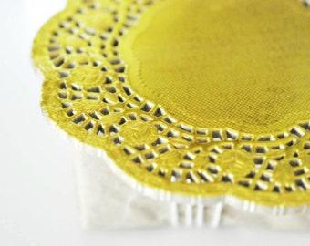 Gold Doilies {20} Foil Doilies Gold Foil Doilies | Lace Paper Doilies | Vintage Style Doilies | Wedding DIY Supply | Gold Foil Paper Doilies