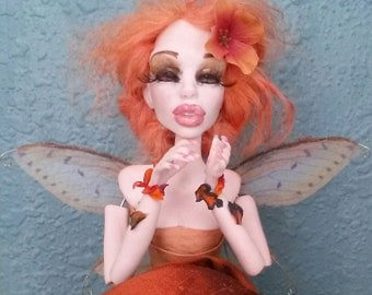 Made to Order Custom posable Art Doll Autumn Fall