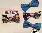 Super Mario // Hair Bow // clip on Bow Tie //Nintendo Fabric