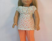 18 Inch Doll Clothes,  Knit Pants and Summery Top for Julie or Ivy - Item 1974-1032