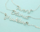 Personalized Custom Name Necklace - Cutout Name Necklace - Bridesmaid Jewelry - Personalized Jewelry - Mom Jewelry