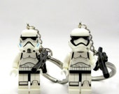 Stormtrooper® Inspired Keychain, Necklace -or- Figure Only - Star Wars® Fan Art - Fan Art Crafted From LEGO® Elements
