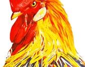Rooster 8x10 Art Print, W...