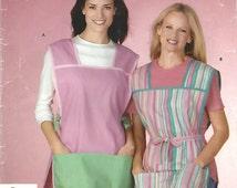 2000s Simplicity 4734 Sewing Pattern Misses Full Apron, Cobbler Apron, Art Apron Size S - M - L