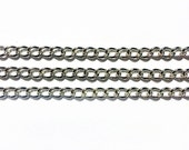 6x4mm Silver Chain 5 Feet Unsoldered Links - Silver Plated Chain - High Quality - Shiny Silver - Wholesale Chain - Lead Free