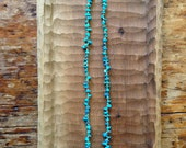 Southwestern turquoise nugget necklace / chunky turquoise necklace