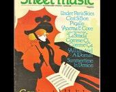 PIANO GUITAR Sheet Music Continental Holiday Vintage 1987
