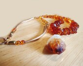 AMBER and CITRINE, long, BEAUTIFUL necklace