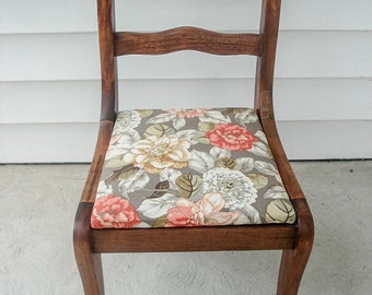 Vintage 1920s child's chair - recovered with Waverly fabric