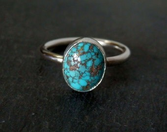 Custom turquoise ring / choose your own turquoise ring / Morenci turquoise / turquoise jewelry / December birthstone