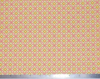 Heather Bailey Tiled Primrose Bijoux Fabric - Free Spirit - Cotton Fabric By The Yard