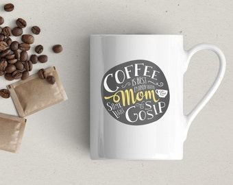 Clearance | Coffee Mug | Coffee and Gossip | Mom
