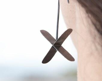 SALE sterling silver X earrings