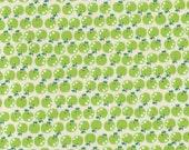 SALE Japanese cotton fabric - Tiny Green Apples K601B - 1/2 yard