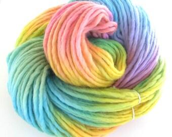 Bulky Yarn Hand Dyed Bulky Wool Yarn - Morning Rainbow