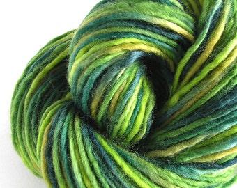 Bulky Yarn Hand Dyed Bulky Wool Yarn - Kiwi