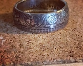 Coin Ring made from a Rupee - Currently Womens sizes up to size 9