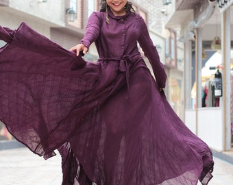 Agape...Maxi dress long sleeve .... available in two size M,L
