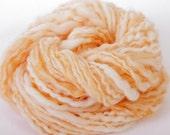 Creamsicle - 84 yards hand spun Merino wool / mohair / firestar