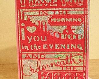 OOAK I Love You Blank Note Card
