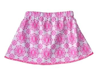 Pink Skull - Punk Rock Baby - Toddler Girl - Skull and Crossbones - Day of the Dead - Girls Skirts - Baby Skirt - Toddler Skirt - 3m to 8