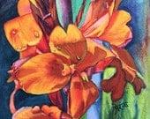 Cana Lily - Original 7x5-inches, Watercolor Painting by Prerana Kulkarni