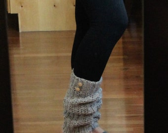 Yoga Legwarmers | Tall boot socks | Gifts for her | Slouchy socks | wood buttons