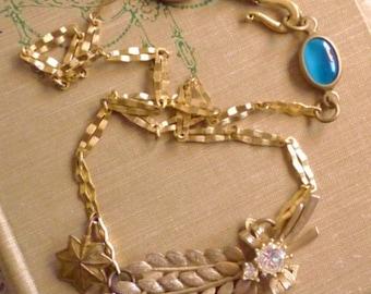 Laurel OOAK Assemblage Art Necklace Antique Vintage Components