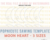 DIGITAL SAWING TEMPLATES - Moon Heart - 3 Sizes