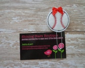 Planner Accessories - Red, White, And Black Baseball With A Satin Bow Paper Clip Or Bookmark - Sports Accessory For Planners Or Calendars