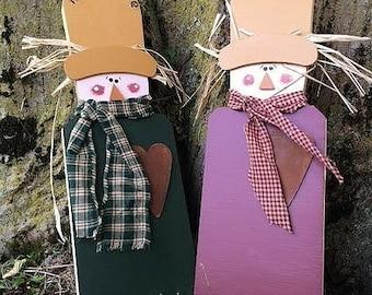 Scarecrow, doorknob hanger, personalized
