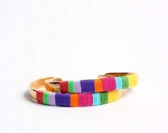 GUATAPURI colorful golden flat bracelet