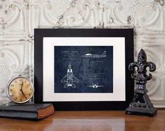 F-15 Eagle airplane blueprint, aviation nursery decor, airplane art, military aircraft, veteran gift, pilot gift, gifts for him, boys room