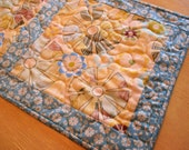 Yellow And Blue Table Runner , Yellow Floral Table Runner