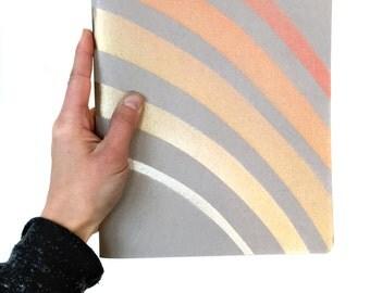 Handmade Blank Notebook, Metallic Rainbow Sketchbook, Art journal, Crystal Art Print, Beautiful Art Notebook, art gift, copper gold silver