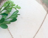 Olivine Minimalist Copper Strand Choker || Gemstone Rose Gold Necklace || Crystal Jewelry || Emerald Olivine Bead Strand Necklace