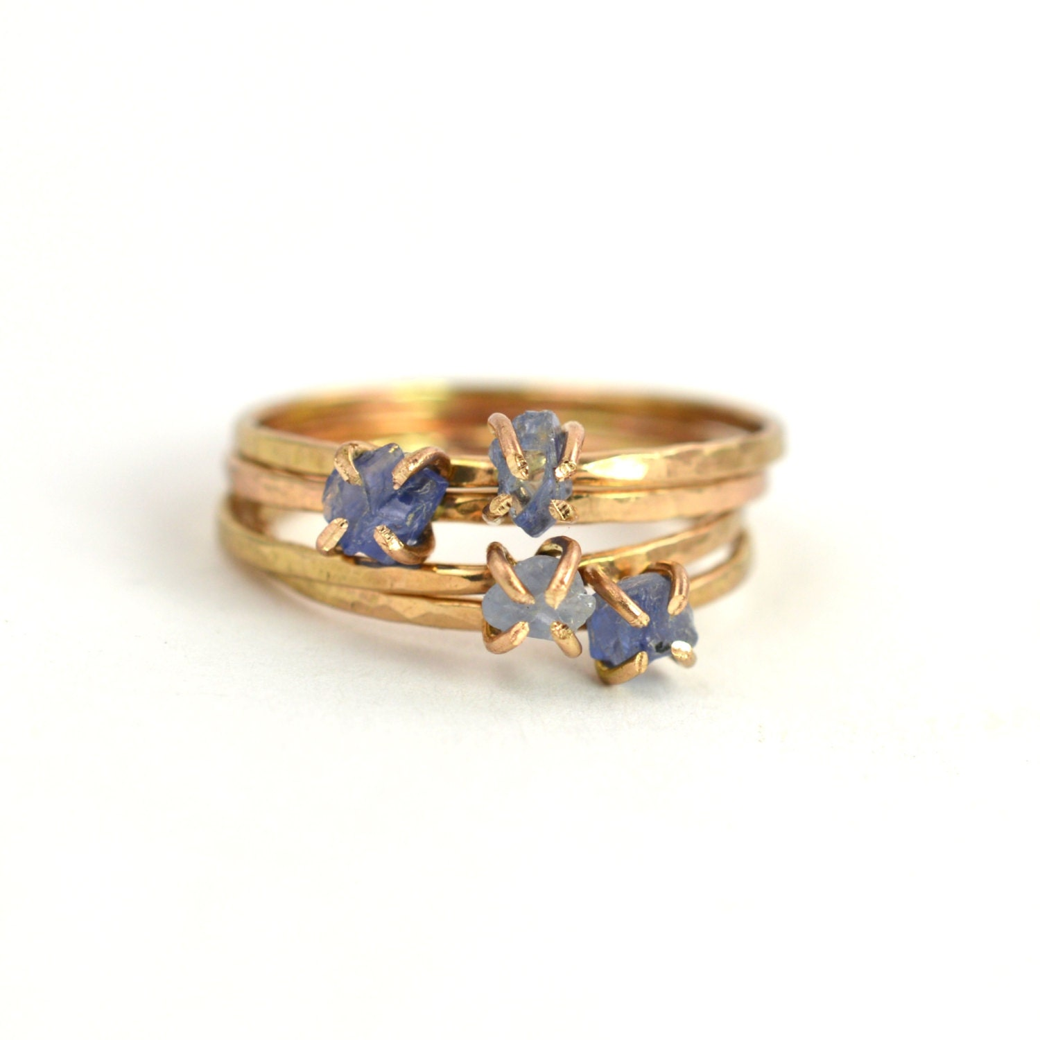raw sapphire ring rough solitaire gemstone ring september. Black Bedroom Furniture Sets. Home Design Ideas