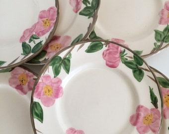 Vintage Franciscan Desert Rose Salad Plates, Set of Six