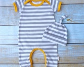 Gender Neutral Going Home Outfit - Gender Neutral Baby Take Home Outfit - Boy Coming Home Outfit - Newborn Outfit - Zaaberry - Made To Order