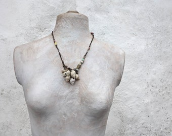 a beachcombers' pocketful  sculptural necklace
