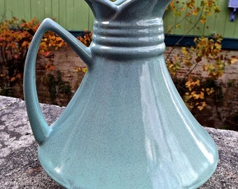 Mid Century Modern Hull Turquoise Pitcher Rare Atomic design