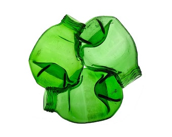 Recycled Triple Bottle LOGO dish - green