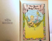 The Book of Baby Mine 1935 Record Book/Diary-Sweet Charming Antique Graphics of Precious Baby Treasures