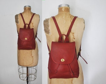 Red COACH Backpack Bookbag / Leather bag