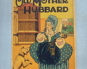 Old Mother Hubbard Linen Children's Book Clara Powers Wilson