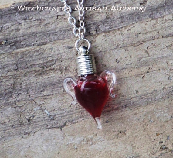 TRUE BLOOD™ Sealed Gothic Vampire Amphora Charm Bottle Pendant Necklace in Jewelry Pouch