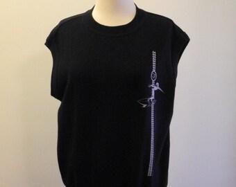 OP black 80s SURF sleeveless sweatshirt UNISEX sz. Medium / Large